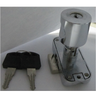Rotating Bar Lock with Knob - 19mm - CP