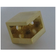 Glass Corner Bracket - Gold Finish - 12
