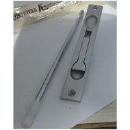 Flush Door Bolt With Rod - 170mm - Alum