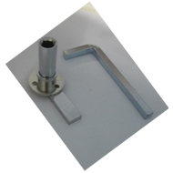 Round Loft Lock With Allen Key - 35mm -