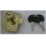 Double Glass Door Lock - 19mm - Gold Fi