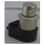 Push Knob With Latch - 19mm - SS Finish