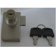 Glass Lock  Double - 20mm - SS Finish