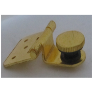Folding Glass Hinge - 35mm - Gold Finis