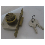 Cupboard Lock - 20mm - Gold Finish