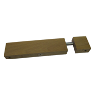 Cabinet Handle Aluminum / Beech Lacquer