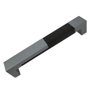 Cabinet Handle -Aluminum / Wenge  - 160mm