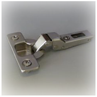 200 Series 110* Hinge - 9 Crank with Domi Mounting Plate - SS Finish