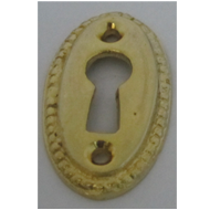 Oval Key Holes - Gold Finish