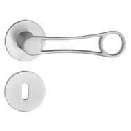 Soberal Door Lever Handle on Rose - Bla