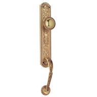 Entrance Set Right Handle Door Handle - Patine Matt - JARDIN