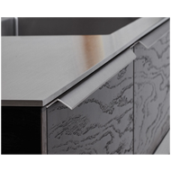 BLAZE Cabinet Handle - 296mm - Inox Look Finish