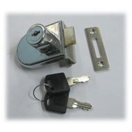 Single Glass Lock - 20mm - CP Finish