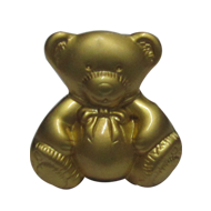 Teddy Bear Furniture Knob in Matt Gold