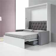 ALADINO SYSTEM 1620X2000MM HIDEAWAY BED WITH SOFA 1620 MM - GREY