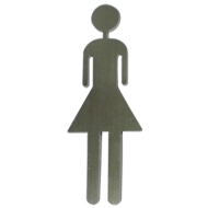 Self -Adhesive-Pictograph Women Signage - 120x60mm - Stainless Steel Finish