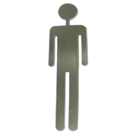 Self -Adhesive-Pictograph Man Signage - 120x60mm - Stainless Steel Finish