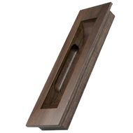 STRAIGHT Wooden Flush Cabinet Handle - Wallnut - 160mm