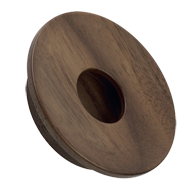 Wooden Knob Belly Button Wallnut Finish