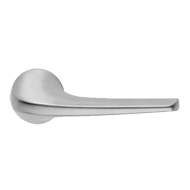 SOUND Lever Handle on Rose in Polished