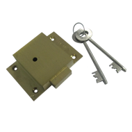 Cupboard Lock Double Turn Heavy - Gold