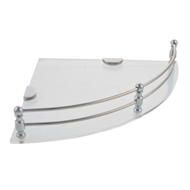 Glass Corner Shelf - 300X300 mm - Chrom