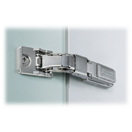 B Series Hinge for Glass Door with Domi Mounting Plate - SS Finish