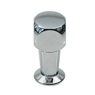 Cabinet Knob - 10mm - Bright Chrome Fin