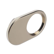 Stop Plate for Glass Door Pin Lock - Nickel Plated Finish - For Glass Thickness 4-6m