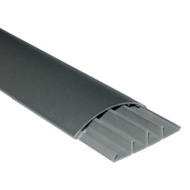 EXIT FLOOR Cable Trunk - Aluminium Finish - 75X18X2000mm
