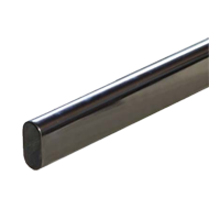 Oval Tube - 30X15X1.0mm - Chrome Plated Finish - length 2000mm