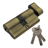 Cylinder Privacy - Antique Brass Finish - 60mm