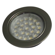 LED Spotlight KB 12-LED Recessed Mounting - 1.6W  - Stainless Steel & Cool White Fin