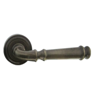 Door Lever Handle on Rose - Bronze Anti