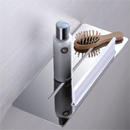 Shelf with glass scraper - Chrome Finish - BASKET SERIES