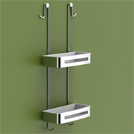 Shelf for Shower Enclosure - Chrome Finish - BASKET SERIES