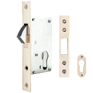 Sliding Door Lock With Cylinder - Antiq