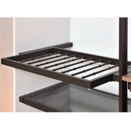 Pull out aluminium frame with trousers rack - 800mm - Brown powder coated finishing