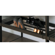 Pull out aluminium frame with shoe rack