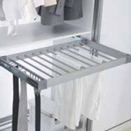 Aluminium Trouser Rack with Side Mounted Telescopic Rail