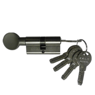 Cylinder One Side Key & One Side Knob - Stainless Steel Finish