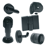 Nylon Washroom Cubicle Set(Left) - Black Colour