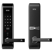 Digital Door Lock - Black Colour - Password - RFID card & emergency keys - with Hand