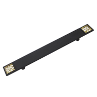 Front Door Handle - Black/Gold - CC 300mm - Sublime
