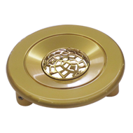 Door Round Knob - Matt Gold/Gold Finish - 4 Inch