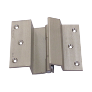 Brass Door Hinge - Half - Stainless Steel Finish