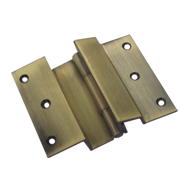 Brass Door Hinge - Half - Antique Finis