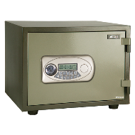 Electronic Safe Fire Proof - 45Kg - Green Colour - (H):15X(W):19X(D):15 Inch