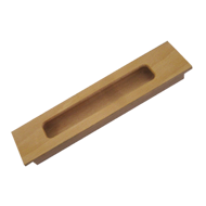 Sliding Flush Handle - 8  Inch - Teak W