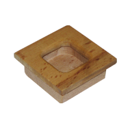 Sliding Flush Handle - 2X2 Inch - Teak Wood
